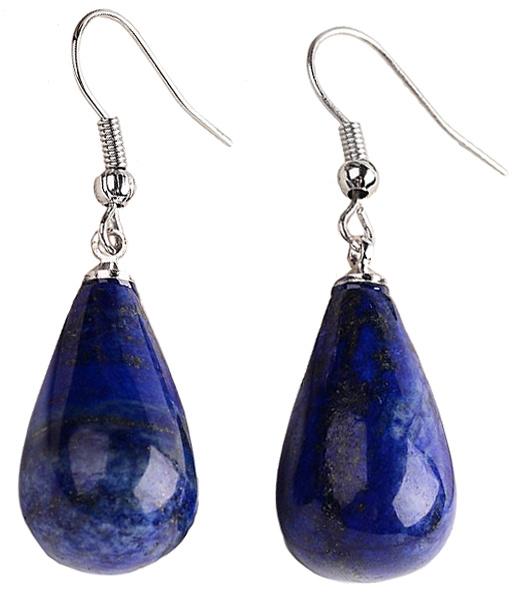 Edelstenen oorbellen Lapis Lazuli Big Drop