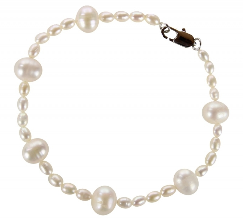 Zoetwater parel armband Little Bold Pearl