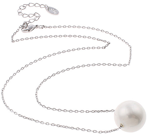 Mother of pearl parel ketting Shiny Ball White