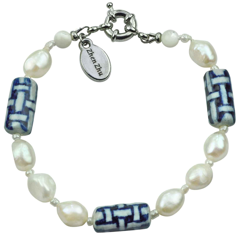 Zoetwater parel armband Hollands Glorie Twine White