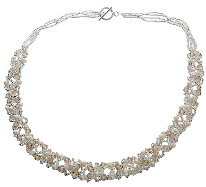 Zoetwater parelketting Pearl Crystal Clear