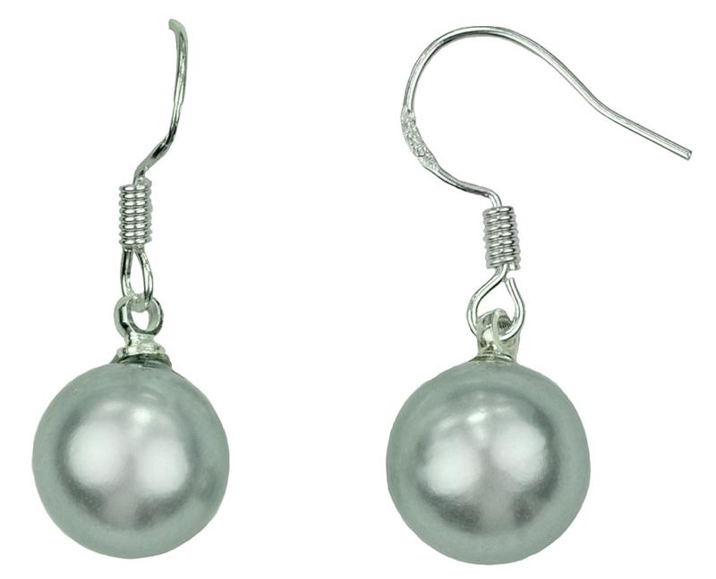 Mother of pearl parel oorbellen Shiny Grey