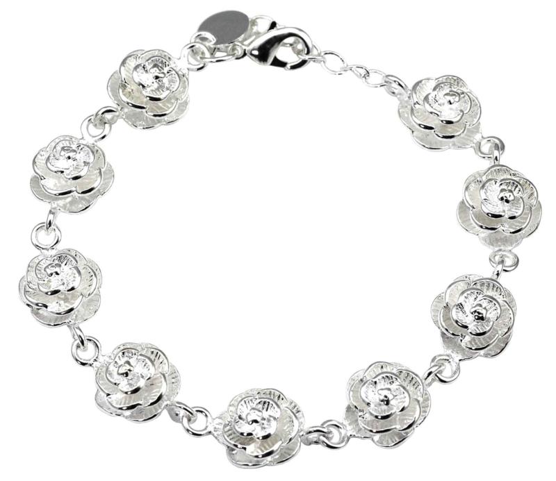 Verzilverd armband Silver Flower