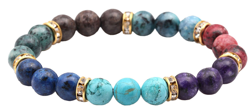 Edelstenen armband Golden Bling Mix Gemstones