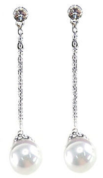 Mother of Pearl parel oorbellen Fiell White Dangling Pearl