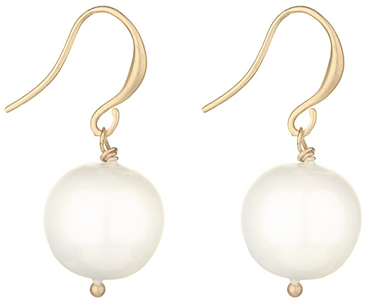 Mother of Pearl parel oorbellen Sweet Big Bold Shell Pearl