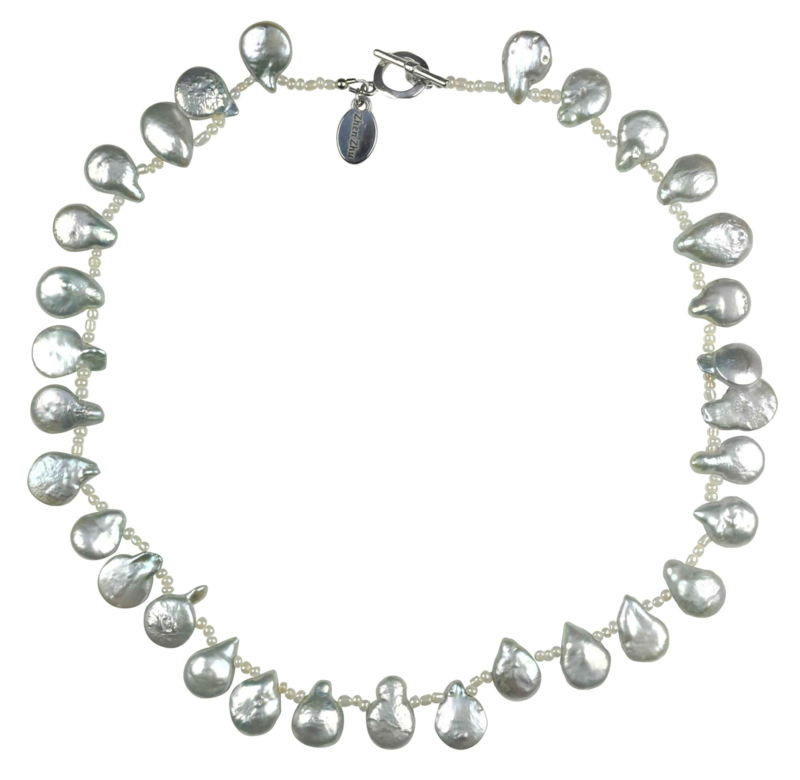 Zoetwater parelketting Little Grey Coin