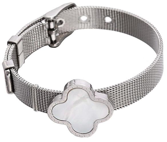 Parelmoeren armband White Shell Flower Watch