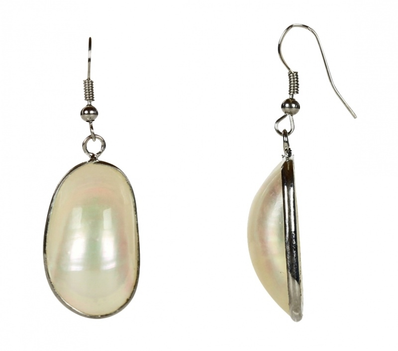 Schelpen oorbellen Mother of Pearl Small
