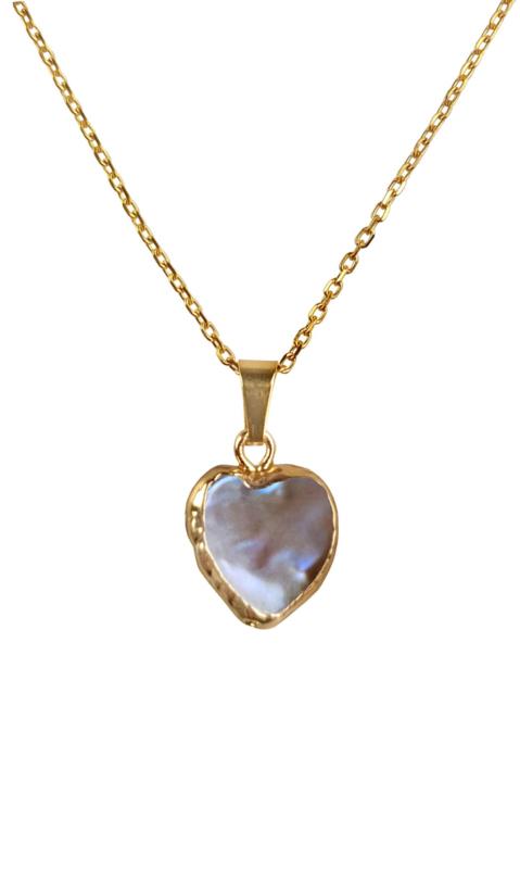 Zoetwater parelketting Golden Heart Brown Pearl
