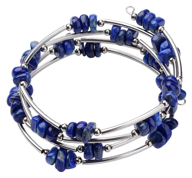 Edelstenen wikkelarmband Wrap Lapis Lazuli Chip