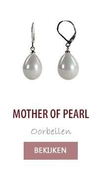 Mother of pearl parel oorbellen