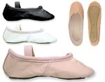 Leren balletschoen (roze of zwart) - lees omschrijving!