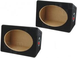 2x lege behuizing voor 6x9 speakers opbouw