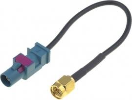 GPS adapter Fakra plug.SMA-A socket:0.15m