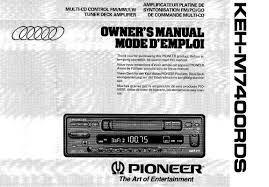 Pioneer KEH-M7400 RDS