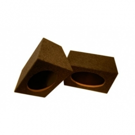 Necom 2x lege speaker behuizing 6x9 inch opbouw