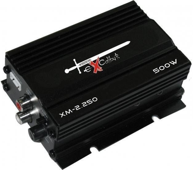 EXCALIBUR XM2.250  2-kanalen scooter versterker 500 Watt