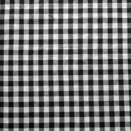 Stofcoupon ZW01 zwart-wit ruitje 33 x 33 cm