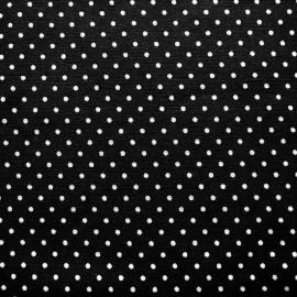 Stofcoupon ZW02 zwart-wit stipje 33 x 33 cm