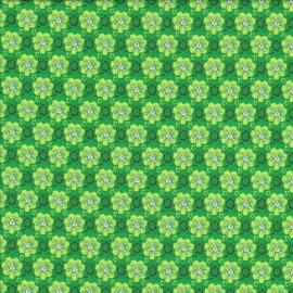 Stofcoupon GR23 bloem-groen 33 x 33cm