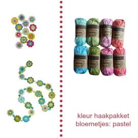 Haakpakket nr. 6 bloemetjes of bloemetjesslinger