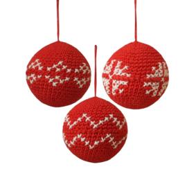 Haakpakket nr. 32 kerstballen (3 stuks)