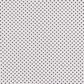 Stofcoupon ZW05 wit-zwart stipje 33 x 33 cm
