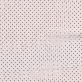 Stofcoupon B07 wit-beige stip 33 x 33cm