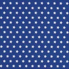 Stofcoupon BM03 blauw-wit sterretje 33x33 cm