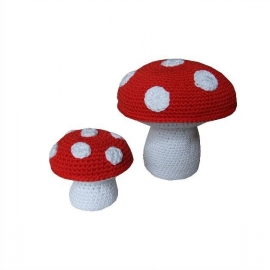 Haakpakket nr. 22 paddenstoel groot en klein
