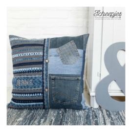 Haakpakket 10.  kussen Jeans