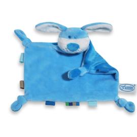 Tutpoppetje hond blauw met eigen tekst