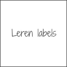 Leren labels