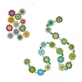Haakpatroon nr. 6 bloemetje en/of bloemetjesslinger