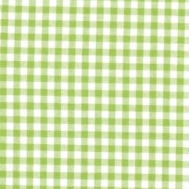 Stofcoupon GR03 groen-wit ruitje 33 x 33 cm
