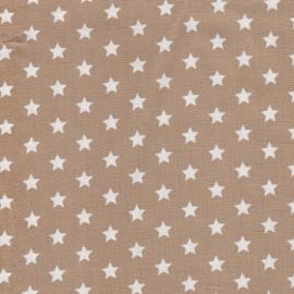 Stofcoupon B03 beige-wit sterretje 33x33 cm