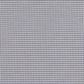 Stofcoupon ZG03 grijs-wit ruitje 33x33 cm