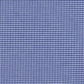 Stofcoupon BM08 blauw-wit ruitje 33x33 cm