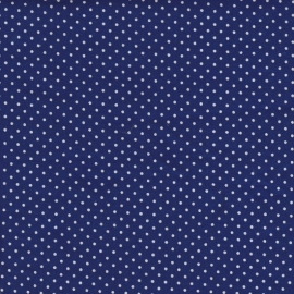 Stofcoupon BM07 blauw stipje 33 x 33 cm