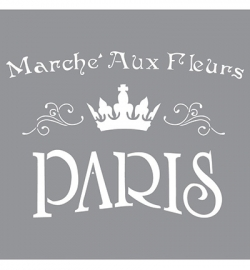 Stencil The flower market - Paris