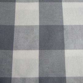 Stofcoupon ZG05 grijs-wit ruit 33 x 33 cm