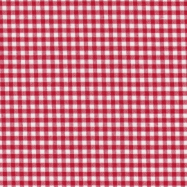 Stofcoupon RD05 rood-wit ruitje 33x33 cm