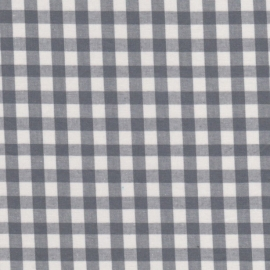 Stofcoupon ZG03a grijs-wit ruitje 33x33 cm