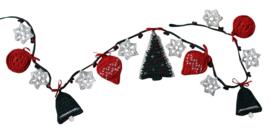 Haakpatroon nr. 65 slinger met kerstfiguurtjes