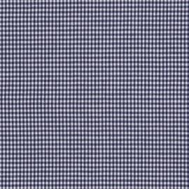 Stofcoupon BD07 donkerblauw-wit ruitje 33 x 33 cm