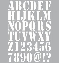 Dutch Stencil Alphabet