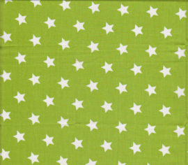 Stofcoupon GR 01 groen-wit sterretje 33 x 33 cm