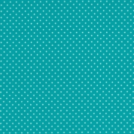 Stofcoupon TQ19 turquoise-stipje 33 x 33 cm
