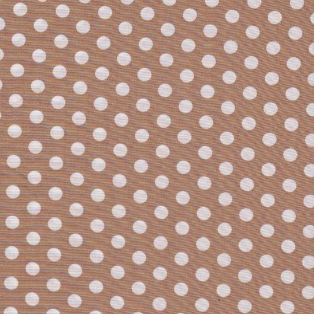 Stofcoupon B09 beige-wit polkadot 33 x 33cm